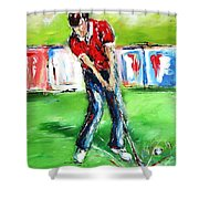 Ideal Gift For Golfing Husband Shower Curtain