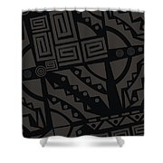 Perfect Imperfections II - Charcoal Infusion Shower Curtain
