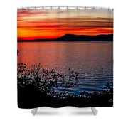 Perfect Marine Sunset Shower Curtain