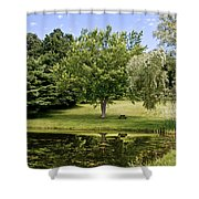 Perfect Spot For A Picnic Shower Curtain