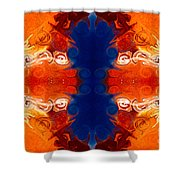 Perfectly Balanced Philosophies Abstract Pattern Art By Omaste Witkowski Shower Curtain
