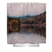 Perfectly Cloudy Lake Shower Curtain