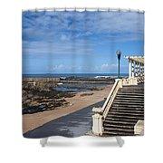 Pergola Da Foz At Praia Do Molhe Beach In Porto Shower Curtain