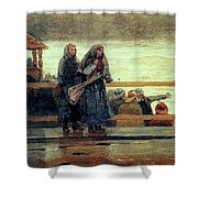 Perils Of The Sea 1881 Shower Curtain