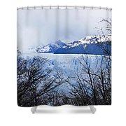Perito Moreno Glacial Landscape Shower Curtain