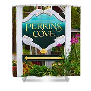 Perkins Cove Sign Shower Curtain