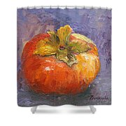 Perky Persimmon Shower Curtain