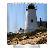 Permaquid Point Lighthouse Shower Curtain