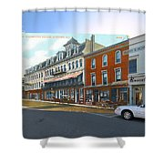 Perry House At Washington Square In Newport Rhode Island Shower Curtain
