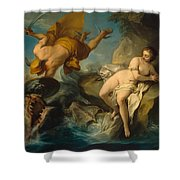 Perseus And Andromeda Shower Curtain