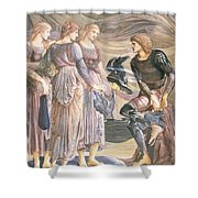 Perseus And The Sea Nymphs, C.1876 Shower Curtain