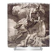 Perseus Cuts Off Medusa's Head Shower Curtain by Bernard Picart