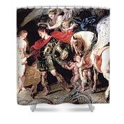 Perseus Liberating Andromeda Shower Curtain