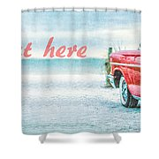 Free Personalized Custom Beach Art Shower Curtain