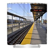 Perspective From The Series The Elements And Principles Of Art-- One Point Rail Shower Curtain
