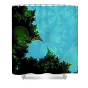 Perspective In The Forest Shower Curtain