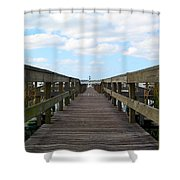 Perspective Lighthouse Shower Curtain