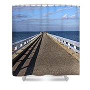 Perspective Pier Shower Curtain