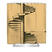 Perspective Study Shower Curtain