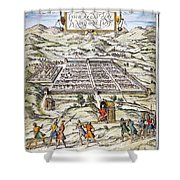 Peru: Cuzco, 1572 Shower Curtain