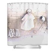 Peru Nazca Bones Two Shower Curtain