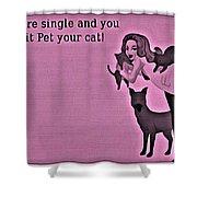 Pet Your Cat Shower Curtain