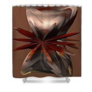 Petals And Stone Shower Curtain