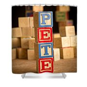 Pete - Alphabet Blocks Shower Curtain