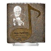 Pete Pedersen Note Shower Curtain