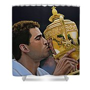 Pete Sampras Shower Curtain by Paul Meijering