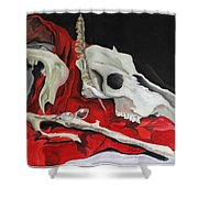 Pete The Skull Shower Curtain
