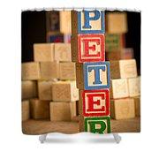 Peter - Alphabet Blocks Shower Curtain