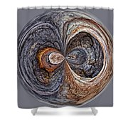 Peter Iredale Orb W Shower Curtain
