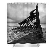 Peter Iredale Shipwreck Oregon 1 Shower Curtain