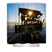 Peter Iredale Shipwreck, Fort Stevens Shower Curtain