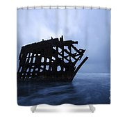 Peter Iredale Shipwreck Oregon 3 Shower Curtain