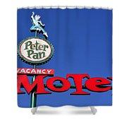 Peter Pan Motel Shower Curtain