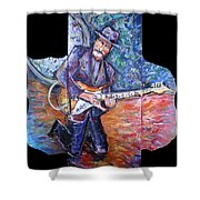 Peter Parcek Plays The Blues Shower Curtain