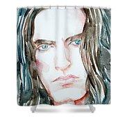Peter Steele Watercolor Portrait Shower Curtain