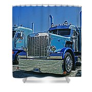 Peterbilt And Frieghtliner Shower Curtain