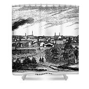Petersburg, Virginia, 1856 Shower Curtain