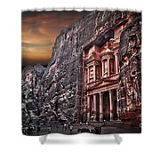 Petra The Treasury Shower Curtain by Dan Yeger