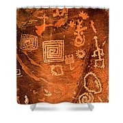 Petroglyph Symbols Shower Curtain
