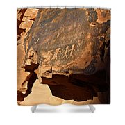Petroglyphs Shower Curtain by Valeria Donaldson