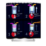 Petrol Engine Poster Shower Curtain