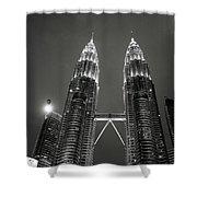 Petronas Towers At Night Shower Curtain