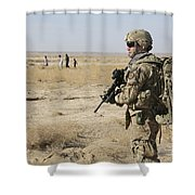 Petty Officer Maintains Security Shower Curtain