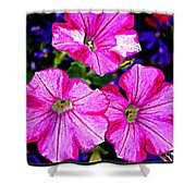 Petunia Rhapsody Shower Curtain