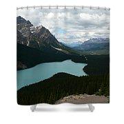 Peyote Lake In Banff Alberta Shower Curtain