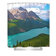 Peyto Lake Along Icefield Parkway In Alberta-canada Shower Curtain